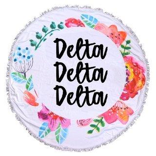 Delta Delta Delta Fringe Towel Blanket