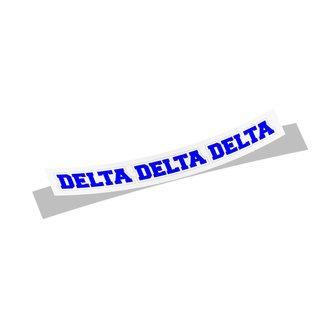 Delta Delta Delta Long Window Sticker