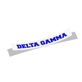 Delta Gamma Long Window Sticker