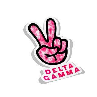 Delta Gamma Peace Hands Decal Sticker