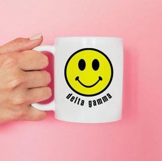 Delta Gamma Smiley Face Coffee Mug - Personalized!