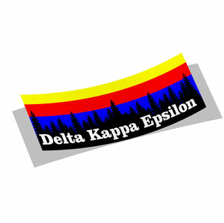Delta Kappa Epsilon Mountain Decal Sticker