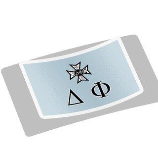 Delta Phi Flag Decal Sticker