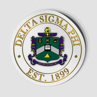 Delta Sigma Phi Circle Crest - Shield Decal