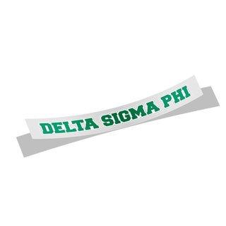Delta Sigma Phi Long Window Sticker