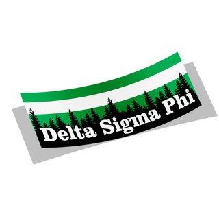 Delta Sigma Phi Mountain Decal Sticker