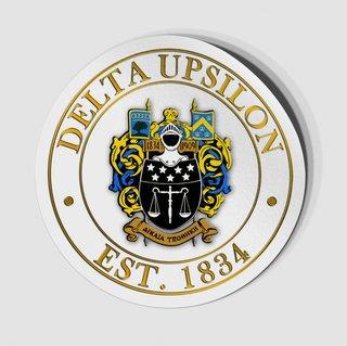 Delta Upsilon Circle Crest - Shield Decal