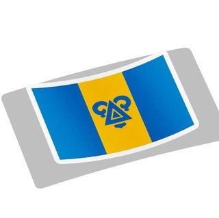 Delta Upsilon Flag Decal Sticker