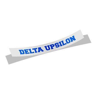 Delta Upsilon Long Window Sticker