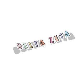 Delta Zeta Cartoon Decal Sticker