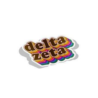 Delta Zeta Retro Maya Decal Sticker