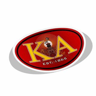 Fraternity Color Oval Decal