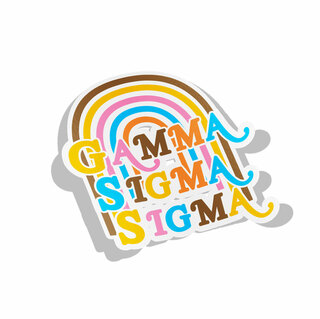 Gamma Sigma Sigma Joy Decal Sticker
