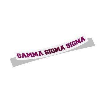 Gamma Sigma Sigma Long Window Sticker