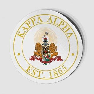 Kappa Alpha Circle Crest - Shield Decal