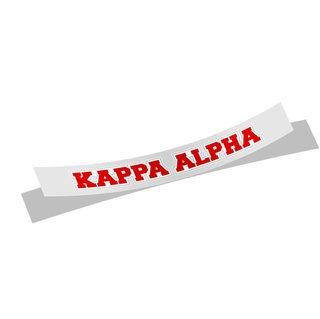 Kappa Alpha Long Window Sticker
