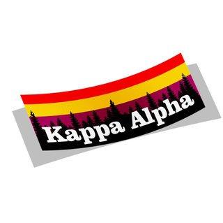 Kappa Alpha Mountain Decal Sticker