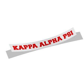 Kappa Alpha Psi Long Window Sticker