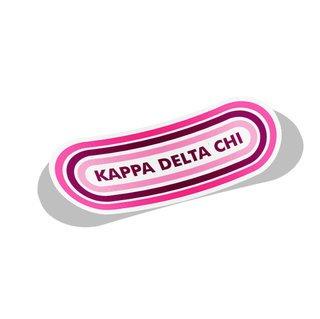 Kappa Delta Chi Capsule Decal Sticker