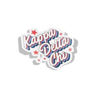 Kappa Delta Chi Flashback Decal Sticker