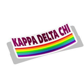 Kappa Delta Chi Prism Decal Sticker