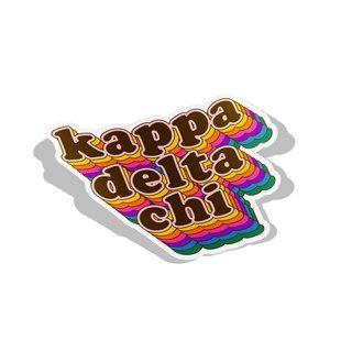 Kappa Delta Chi Retro Maya Decal Sticker