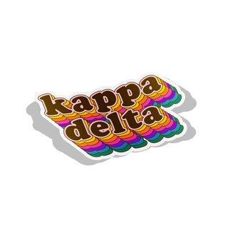 Kappa Delta Retro Maya Decal Sticker