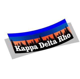 Kappa Delta Rho Mountain Decal Sticker