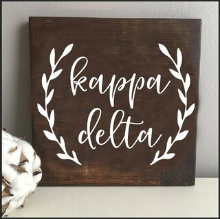 Kappa Delta Wooden Wall Art