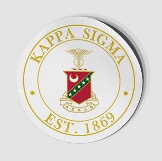 Kappa Sigma Circle Crest - Shield Decal