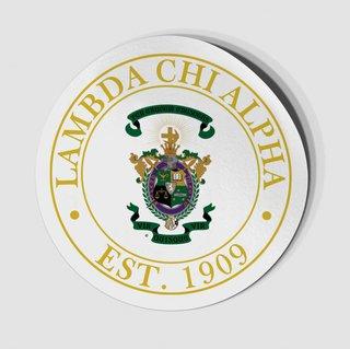 Lambda Chi Alpha Circle Crest - Shield Decal