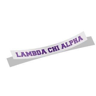 Lambda Chi Alpha Long Window Sticker