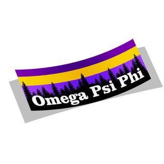 Omega Psi Phi Mountain Decal Sticker