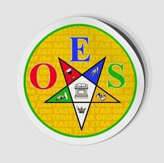 Masonic Car Emblem Cut OES star Order of the Eastern Star Car Sticker Decal