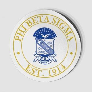 Phi Beta Sigma Circle Crest - Shield Decal