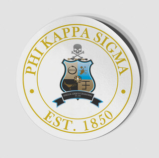 Phi Kappa Sigma Circle Crest - Shield Decal