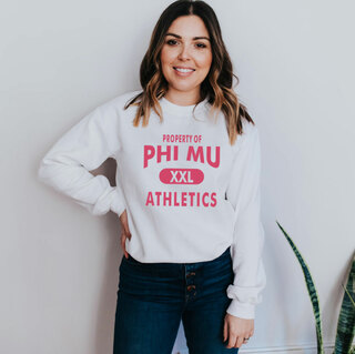 Phi Mu Athletics Crewneck Sweatshirts