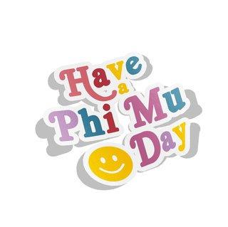 Phi Mu Day Decal Sticker