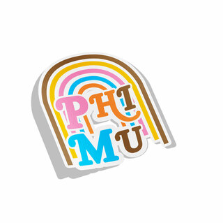 Phi Mu Joy Decal Sticker
