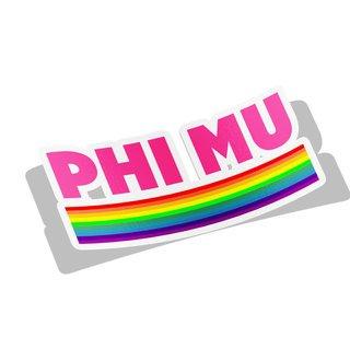Phi Mu Prism Decal Sticker