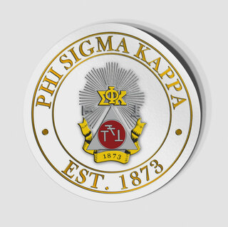 Phi Sigma Kappa Circle Crest - Shield Decal