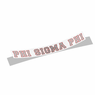 Phi Sigma Phi Long Window Decals Stickers