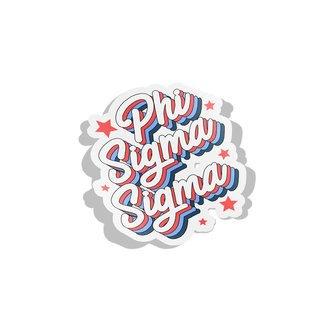 Phi Sigma Sigma Flashback Decal Sticker