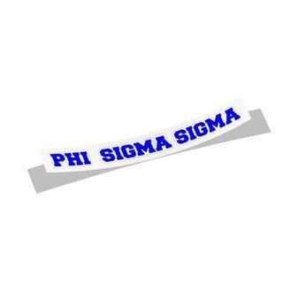 Phi Sigma Sigma Long Window Sticker