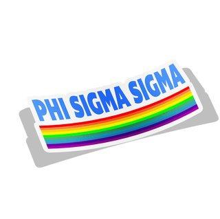 Phi Sigma Sigma Prism Decal Sticker
