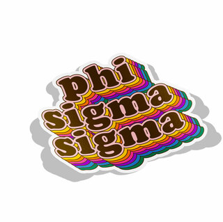 Phi Sigma Sigma Retro Maya Decal Sticker
