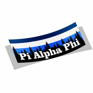 Pi Alpha Phi Mountain Decal Sticker