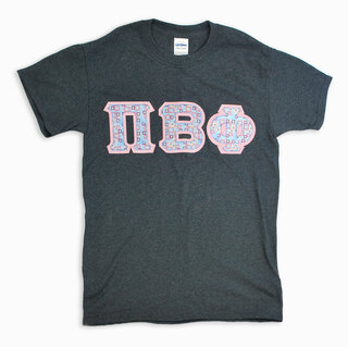 pi beta phi sewn lettered shirts