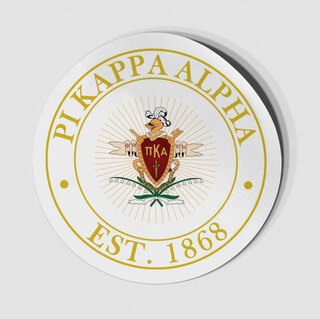 Pi Kappa Alpha Circle Crest - Shield Decal
