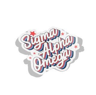 Sigma Alpha Omega Flashback Decal Sticker